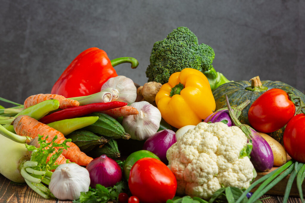 Vegetables, fruits are high in fiber can help stabilize your blood sugars.
