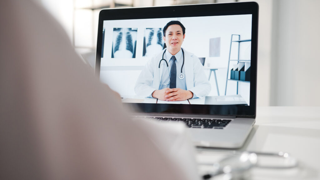 A patient is consulting a doctor online